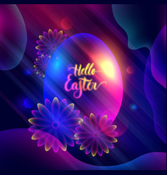 hello easter invitation card lettering vector image