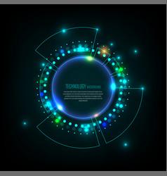Hi-tech modern futuristic business data virtual vector