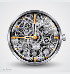 Hours of gears vector