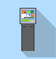 Info payment kiosk icon flat style vector
