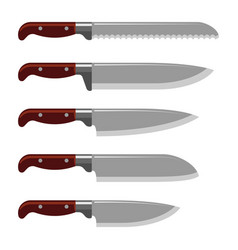 Kitchen knife weapon steel sharp dagger metal vector