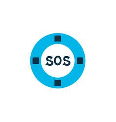 Lifebuoy icon colored symbol premium quality vector
