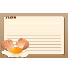 Line paper design with raw egg vector