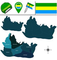 map bandung indonesia vector image