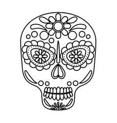 Mask of the santa death vector