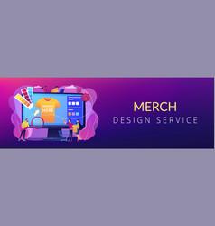 Merch clothing concept banner header vector