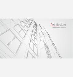 Modern architecture wireframe concept of urban vector