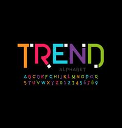 Modern font design trendy alphabet letters and vector