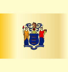 new jersey state flag vector image