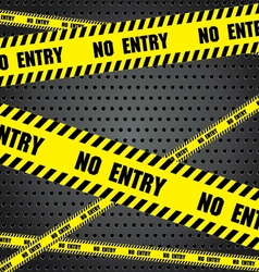 No entry sing with aluminum metal background steel vector