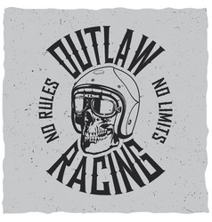 Outlaw racing poster vector