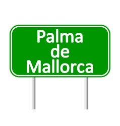Palma de Mallorca road sign vector image