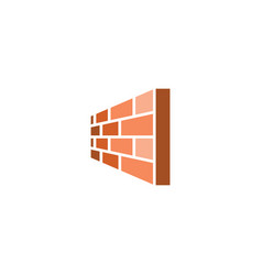perspective brick wall logo icon design vector image