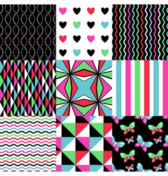 Pop patterns set vector