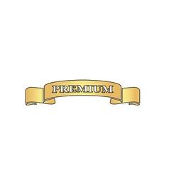Premium ribbon computer symbol vector