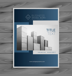 professional blue company brochure template design vector image