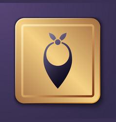 Purple cowboy bandana icon isolated on purple vector
