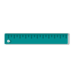 ruler measuring device icon image vector image