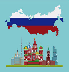 russia travel poster vector image