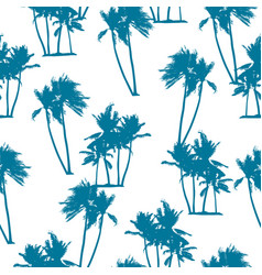 Seamless exotic pattern with palm trees vector