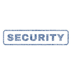 security textile stamp vector image