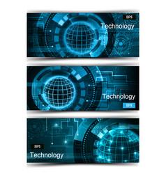 Set modern scientific banners vector