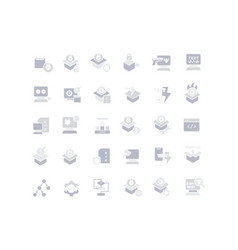 Set simple icons software testing vector