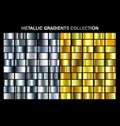 silver and golden yellow glossy gradient gold vector image