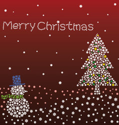 Sparkling Red Christmas vector image
