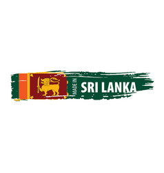 Sri lanka flag on a white vector