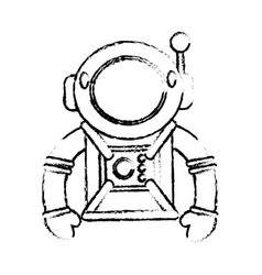 suit space astronaut image sketch vector image