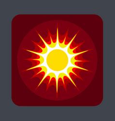 sun concept background cartoon style vector image
