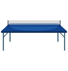 Table and net for table tennis vector image