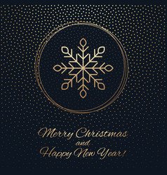 This is a gark and gold christmas background vector