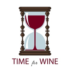 Time for wine Color card vector