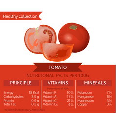 Tomato health benefits vector