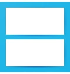 Two Horizontal Blank Banners Mockup vector