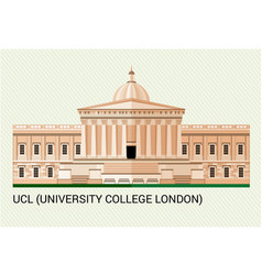 ucl university college london vector image