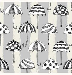 Umbrelle sketch pattern stripe vector