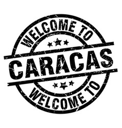 Welcome to caracas black stamp vector
