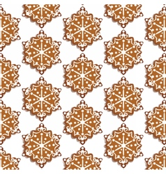 Winter snowflakes sweets pattern vector image