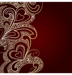 background by valentines day vector image vector image