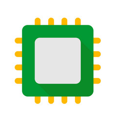 cpu pc hardware part icon flat style vector image