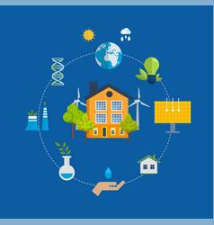 Eco-friendly technology infrastructure progress vector