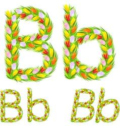 Font type letter b vector