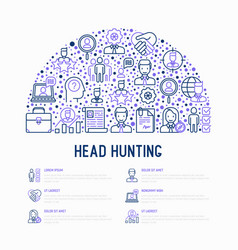 head hunting concept in half circle vector image