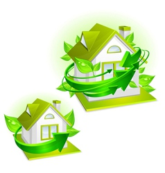 house ecology protection vector image vector image