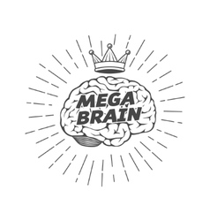 Mega brain king vector