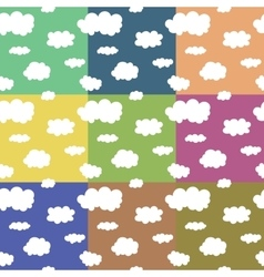 Seamless pattern Funny clouds on sky vector image