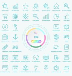 set of universal seo search engine optimisation vector image